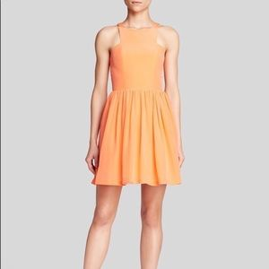 Amanda Uprichard Silk Elle Dress in Orange size S